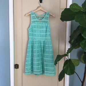 BB Dakota mint lace dress